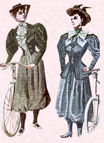 CYCLING OUTFIT OF 19TH CENTURY